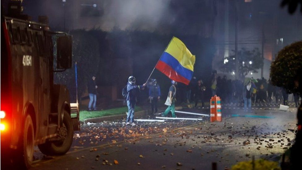 Colombia tax protests: At least 17 dead, ombudsman says