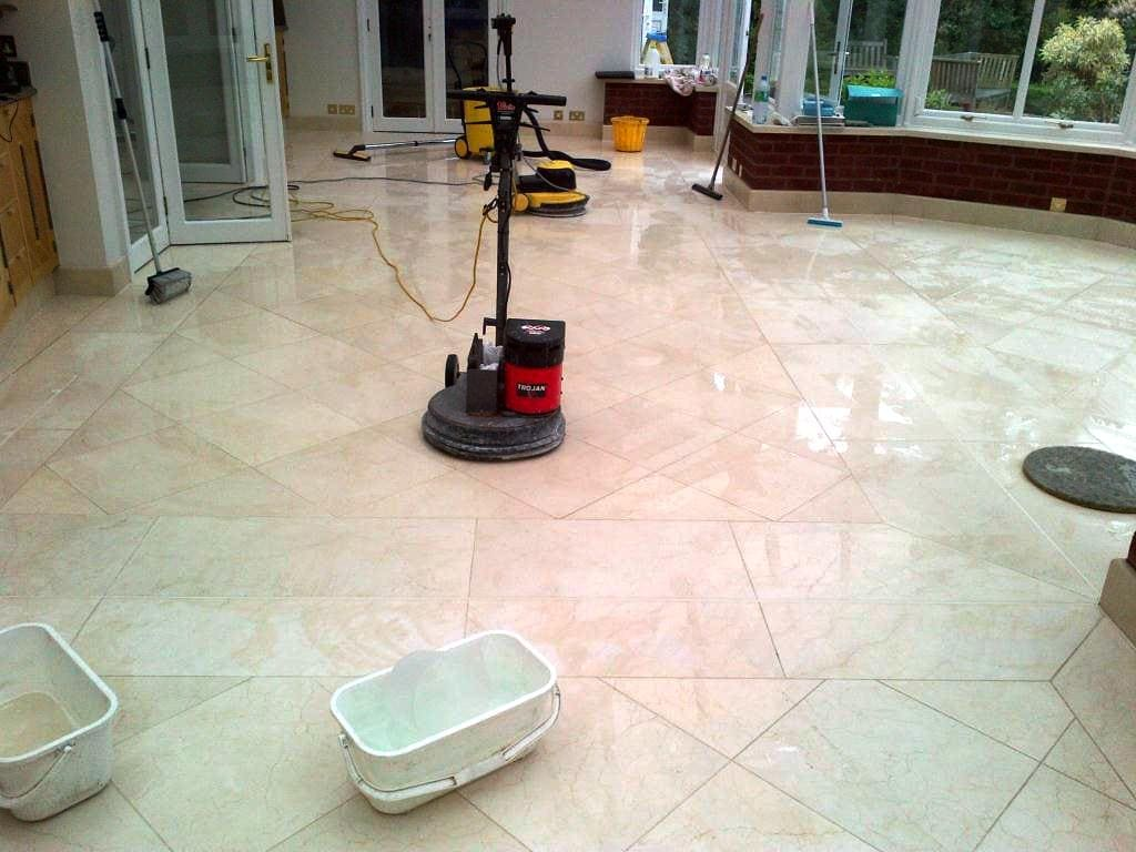 How Do You Clean Grout Between Travertine Tiles?