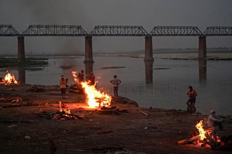 Indias holiest river Ganges is swollen with Covid victims
